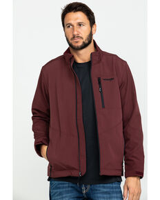 Wrangler Men's Burgundy Trail Fleece Lined Zip Front Jacket , Burgundy, hi-res