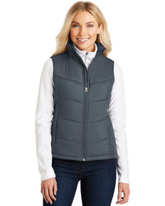Port Authority Women's Dark Slate Puffy Vest, Multi, hi-res