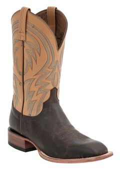 Lucchese Handcrafted 1883 Alan Smooth Cowboy Boots - Square Toe, Dark Brown, hi-res