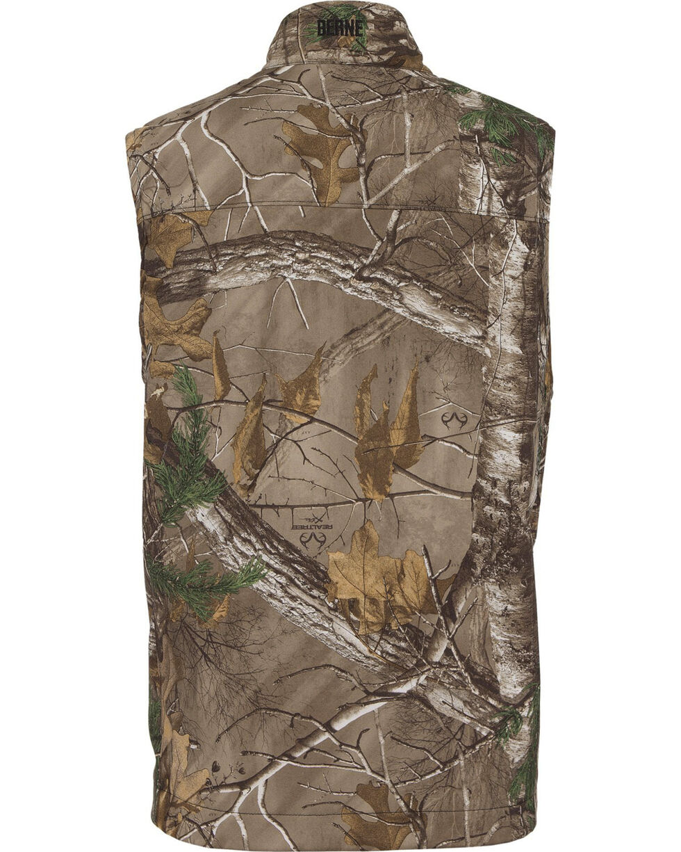 Berne Weekender Realtree Camo Softshell Vest - 3XL and 4XL, Camouflage, hi-res