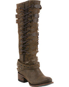 Lane Women's Ghilliegan Tall Boots - Round Toe , Brown, hi-res