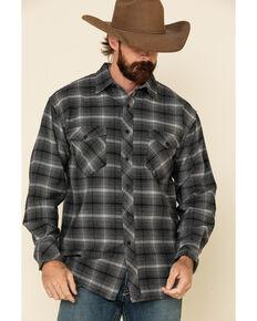 Resistol Men's Grey Simcoe Ombre Plaid Long Sleeve Western Shirt , Grey, hi-res