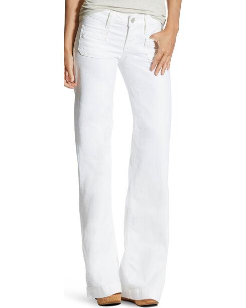 Ariat Women's Dawn White Trouser Jeans, White, hi-res