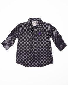 Cinch Infant Boys' Black Geo Print Long Sleeve Western Shirt , Black, hi-res