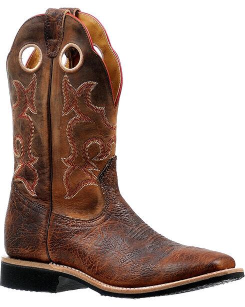 Boulet Men's Virginia Mesquite Stockman Cowboy Boots - Square Toe, Brown, hi-res