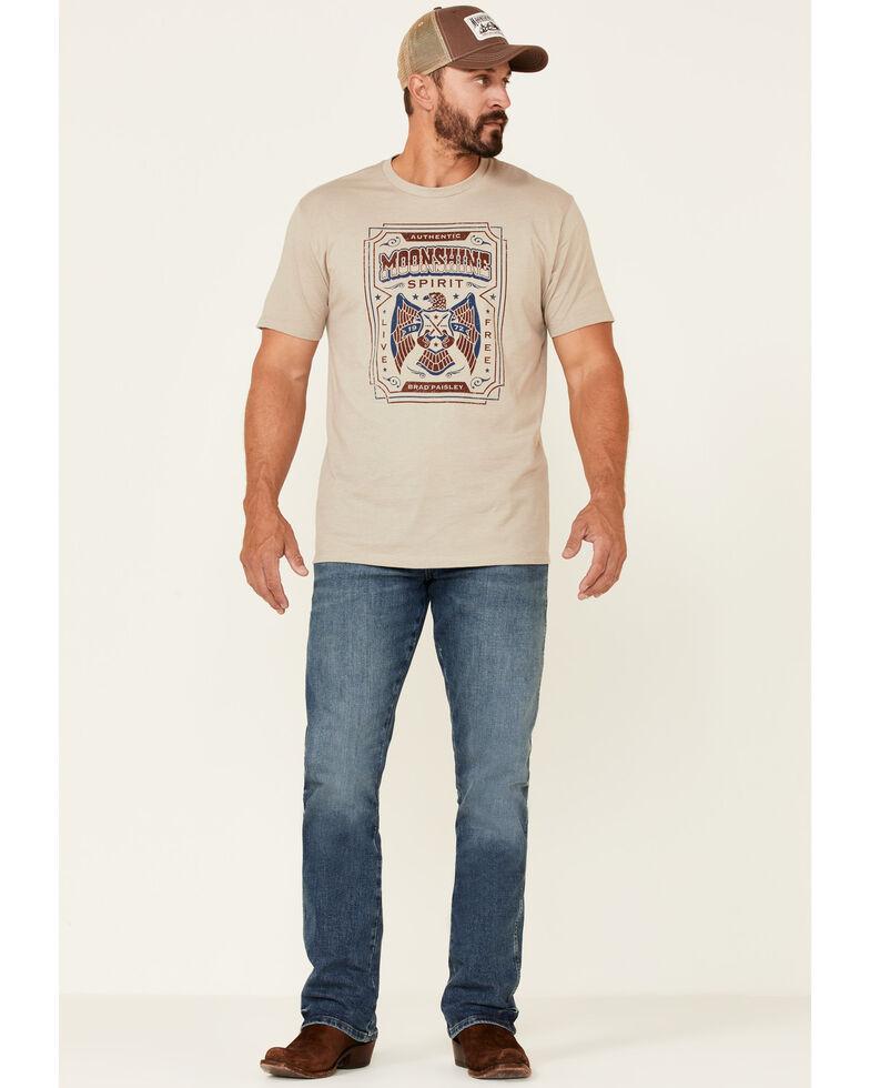 Moonshine Spirit Men's Label Proof Eagle Guitar Graphic Short Sleeve T-Shirt , Beige/khaki, hi-res