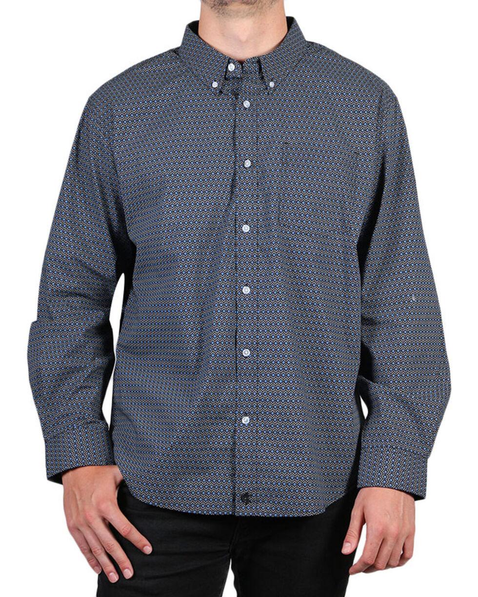 Cody James Men's Mountain Sky Long Sleeve Button Down Shirt - Big, Black, hi-res