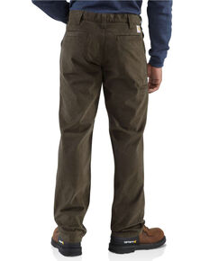 Carhartt Men's Khaki Rugged Work Pants , Dark Brown, hi-res