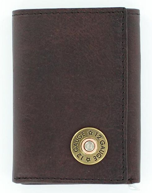 Nocona Shotgun Shell Tri-fold Wallet, Brown, hi-res