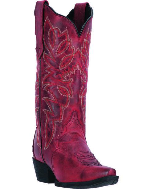Laredo Red Leeza Cowgirl Boots - Snip Toe, , hi-res