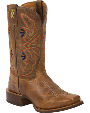 Tony Lama Honey Sierra 3R Stockman Cowgirl Boots - Square Toe, Honey, hi-res