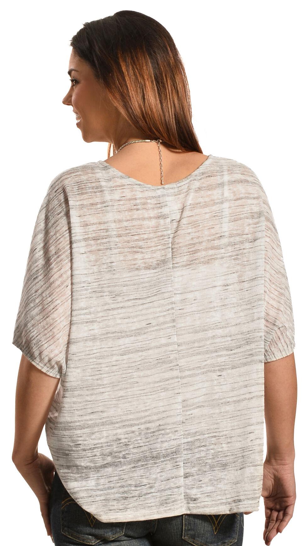 Petrol Women's Short Sleeve Poncho, Grey, hi-res