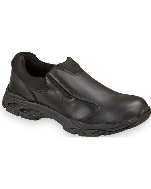 Thorogood Men's Metal Free Slip-On Work Shoe - Composite Toe, Black, hi-res