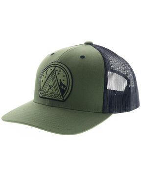 HOOey Men's Green and Black Music Patch Mesh Cap, Green, hi-res
