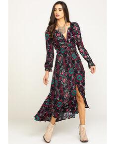 Shyanne Women's Print Maxi Dress, Black, hi-res