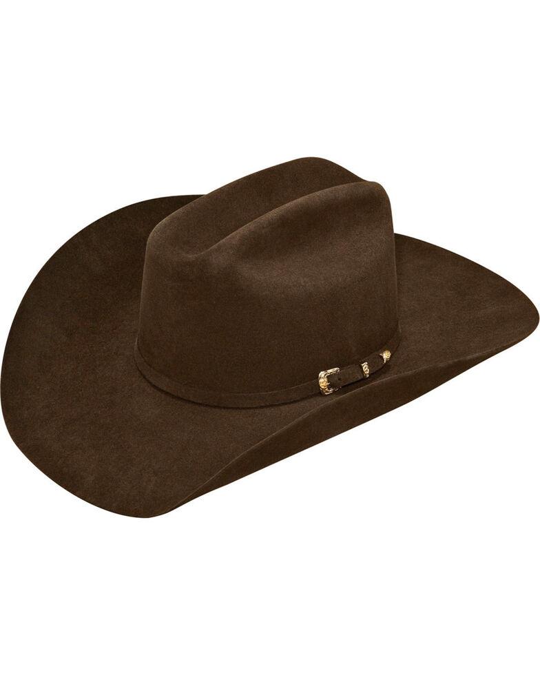Ariat Men's 100% Fur Double S Cowboy Hat , Chocolate, hi-res