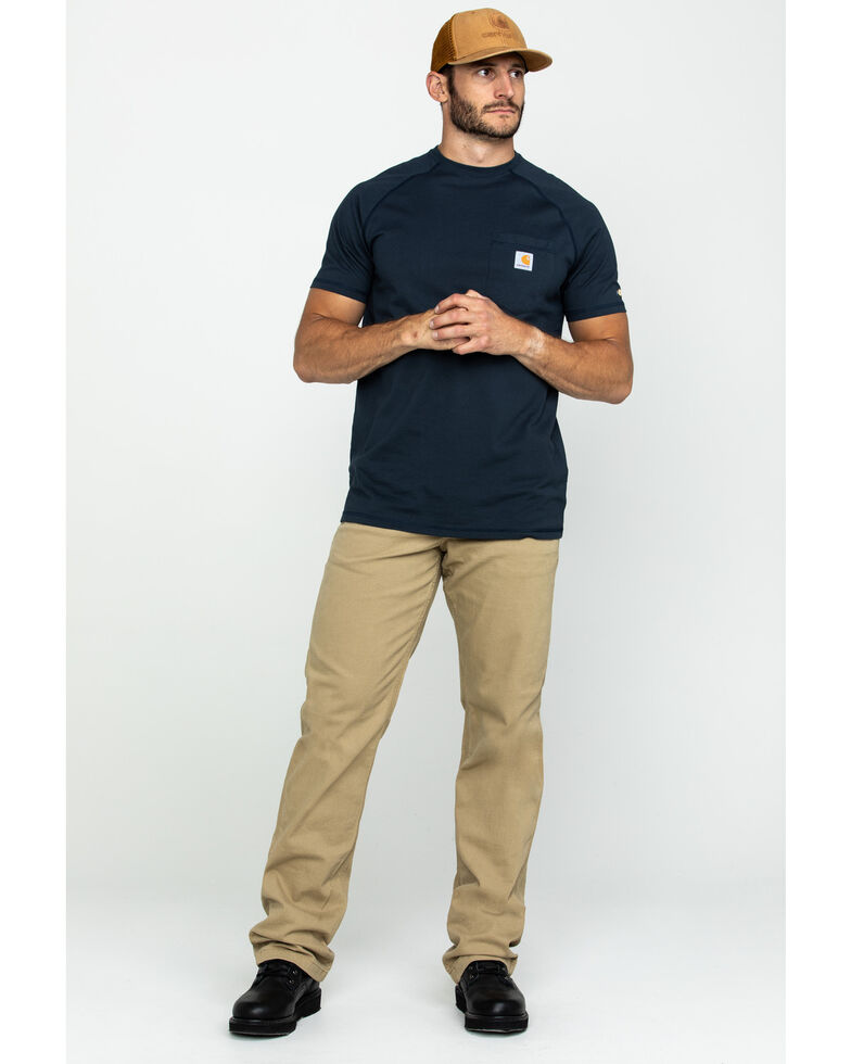 Carhartt Force Men's Short Sleeve Work T-Shirt , Navy, hi-res
