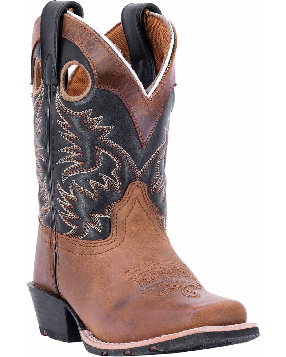 Dan Post Youth Boys' Rascal Western Boots - Square Toe, Brown, hi-res