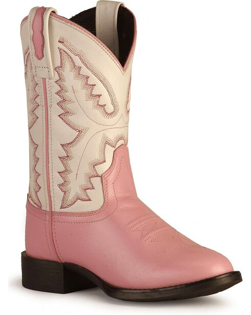 Children's Ultra Flex Western Boots - Round Toe , Pink, hi-res
