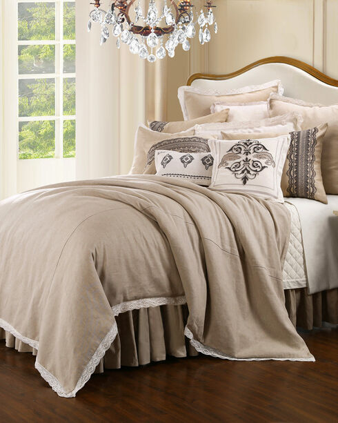HiEnd Accents Cream Charlotte Bedding Collection - King, Cream, hi-res