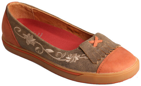 Twisted X Women's Sunburn Casual Slip-On Shoes , Brown, hi-res