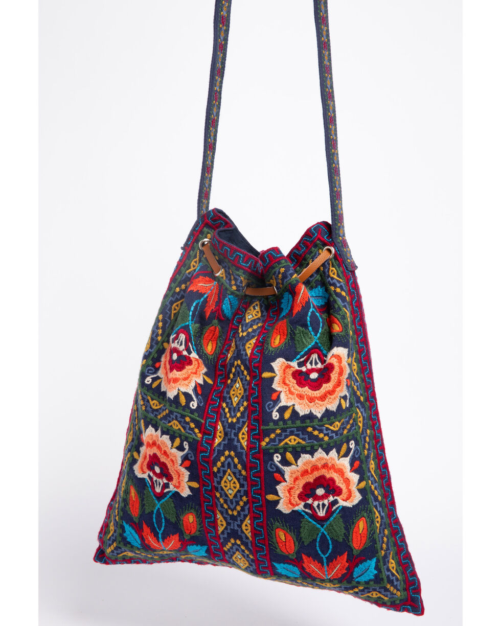 Johnny Was Women's Izamal Embroidered Drawstring Tote Bag , , hi-res