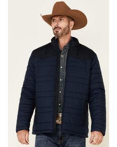 Cody James Men's Navy Adobe Nylon Zip-Front Puffer Jacket , Navy, hi-res