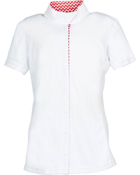 Dublin Kids' Comfort Dry Short Sleeve Show Shirt, Pink Stripe, hi-res