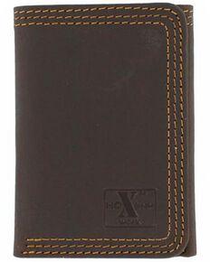 Nocona HDX Triple Stitched Tri-Fold Wallet, Brown, hi-res