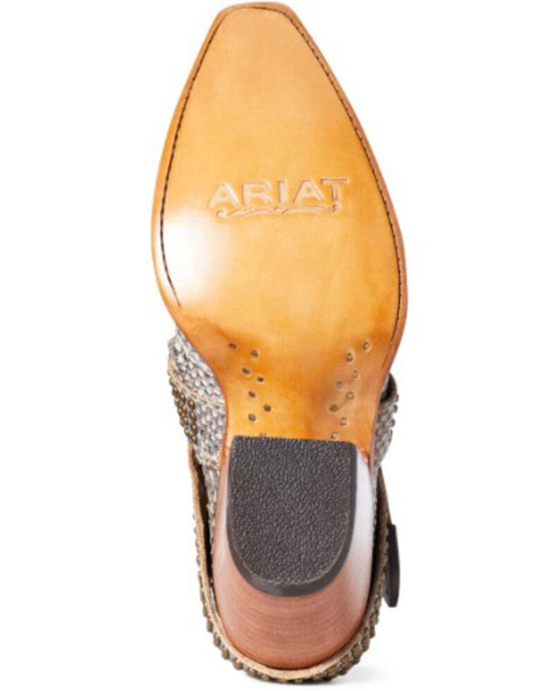 Ariat Women's Dixon Snake Print Fashion Booties - Snip Toe, Grey, hi-res