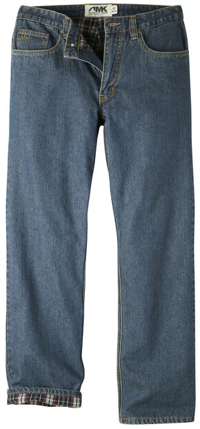 Mountain Khakis Men's Original Mountain Flannel Lined Jeans, Navy, hi-res