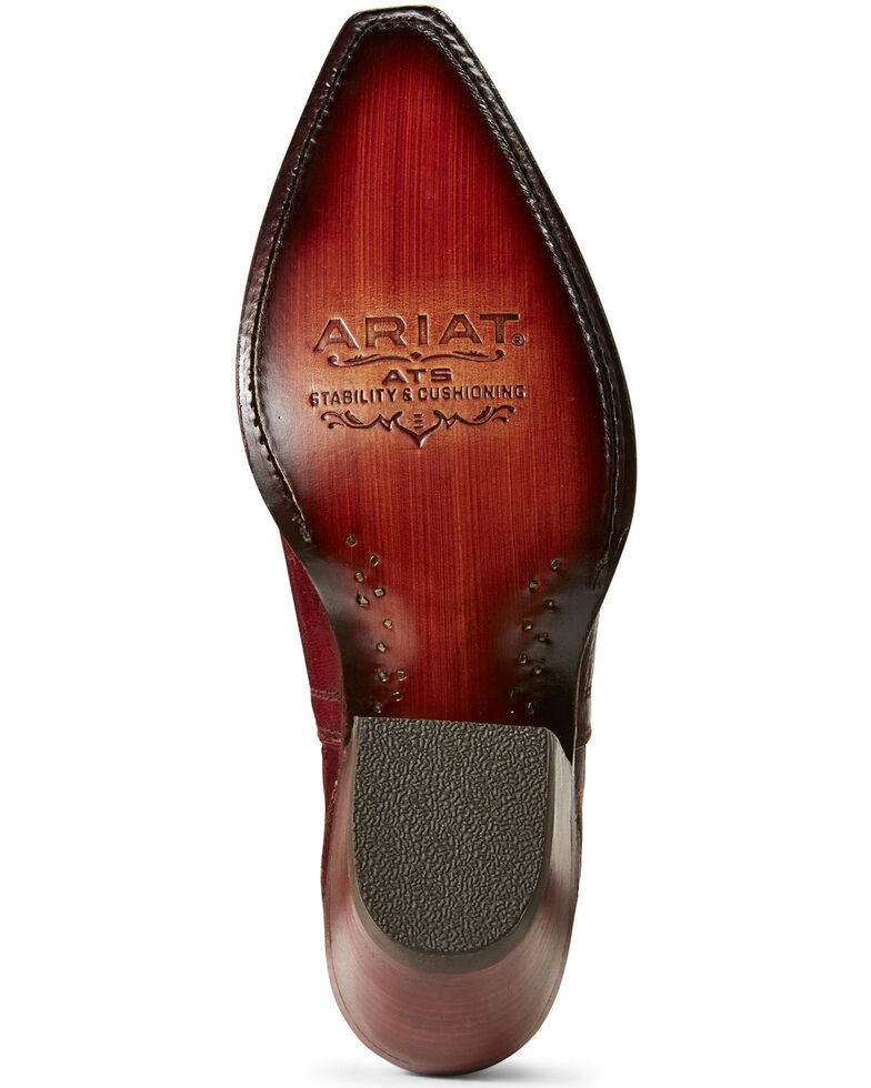 Ariat Women's Dixon Sangria Western Booties - Snip Toe, Wine, hi-res