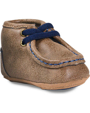Double Barrel Infant Boys' Smith Baby Bucker Booties - Moc Toe, Brown, hi-res