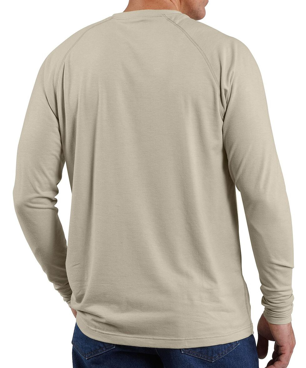 Carhartt Flame Resistant Force Long Sleeve Work Shirt - Big & Tall, Sand, hi-res
