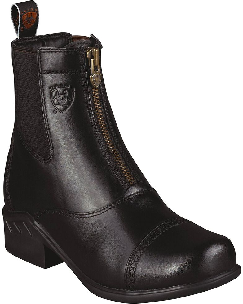 Ariat Heritage Paddock Zip-Up Riding Boots - Round Toe, Black, hi-res