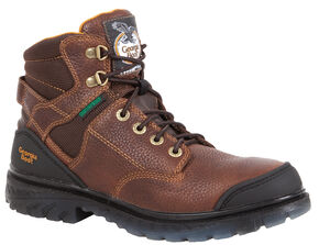 "Georgia Boots Zero Drag 6"" Lace-Up Work Boots - Steel Toe, Brown, hi-res"