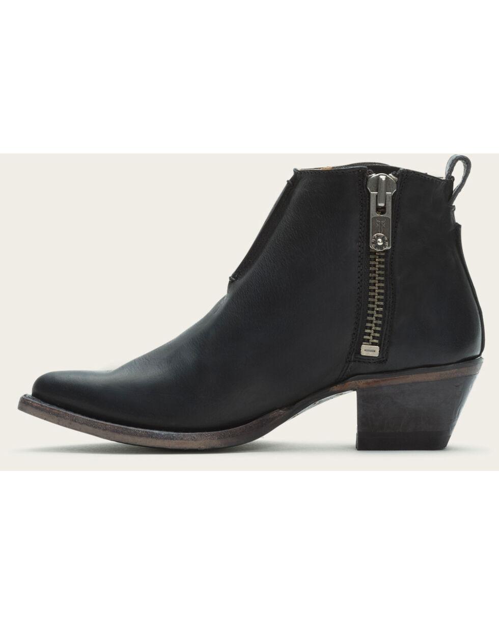 Frye Women's Black Sacha Moto Shortie Boots - Pointed Toe , Black, hi-res