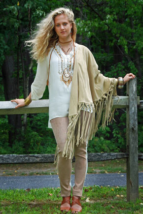 Tasha Polizzi Women's Pecos Embroidered Tunic, Ivory, hi-res