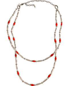 Julie Rose Double Strand Red Coral Necklace, Red, hi-res