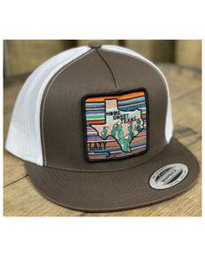 Lazy J Ranch Wear Men's Brown Home Sweet Texas Serape Patch Mesh-Back Ball Cap , Brown, hi-res