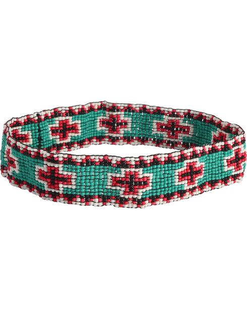 Shyanne Women's Beaded Cross Headband, Multi, hi-res