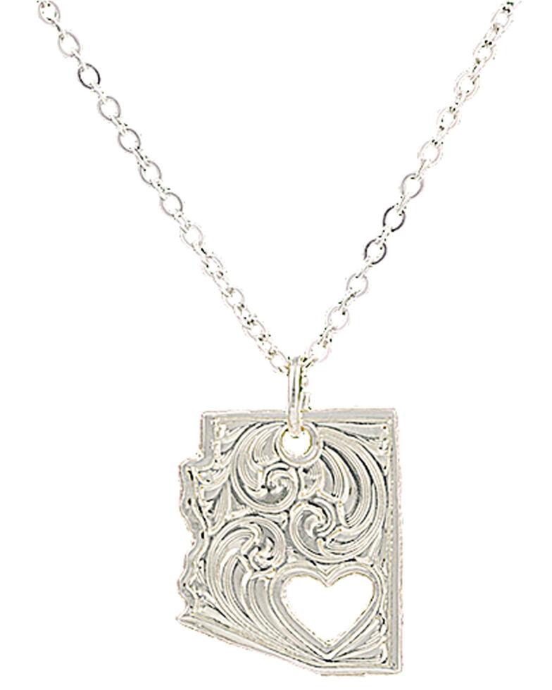 "Montana Silversmiths ""I Heart Arizona"" Necklace *BAD*, Silver, hi-res"