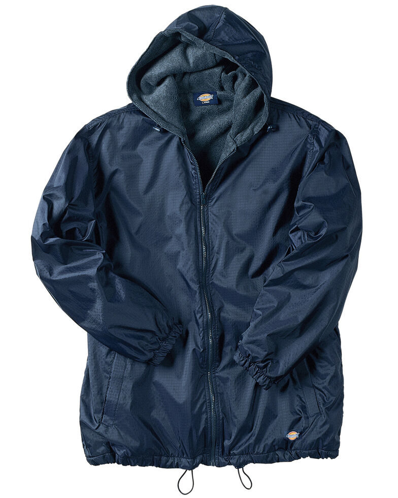 Dickies Men's Fleece Lined Hooded Work Jacket, Navy, hi-res