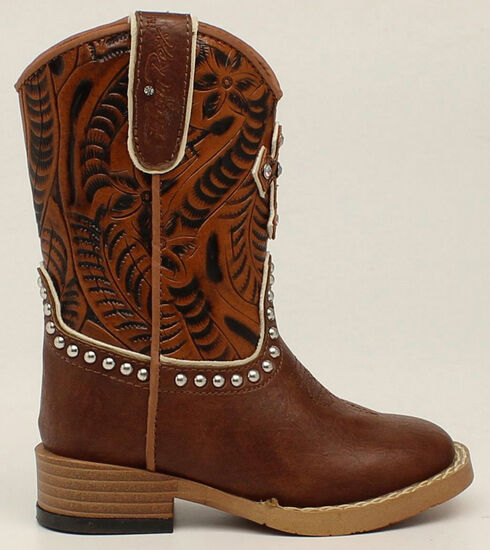 Blazin Roxx Girls' Zip Cross Boots - Square Toe, Brown, hi-res