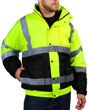 American Worker Men's Bomber Jacket - Big, Bright Yellow, hi-res