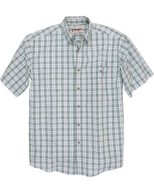 Wrangler Men's Rugged Wear Blue Ridge Plaid Shirt - Big and Tall , Green, hi-res