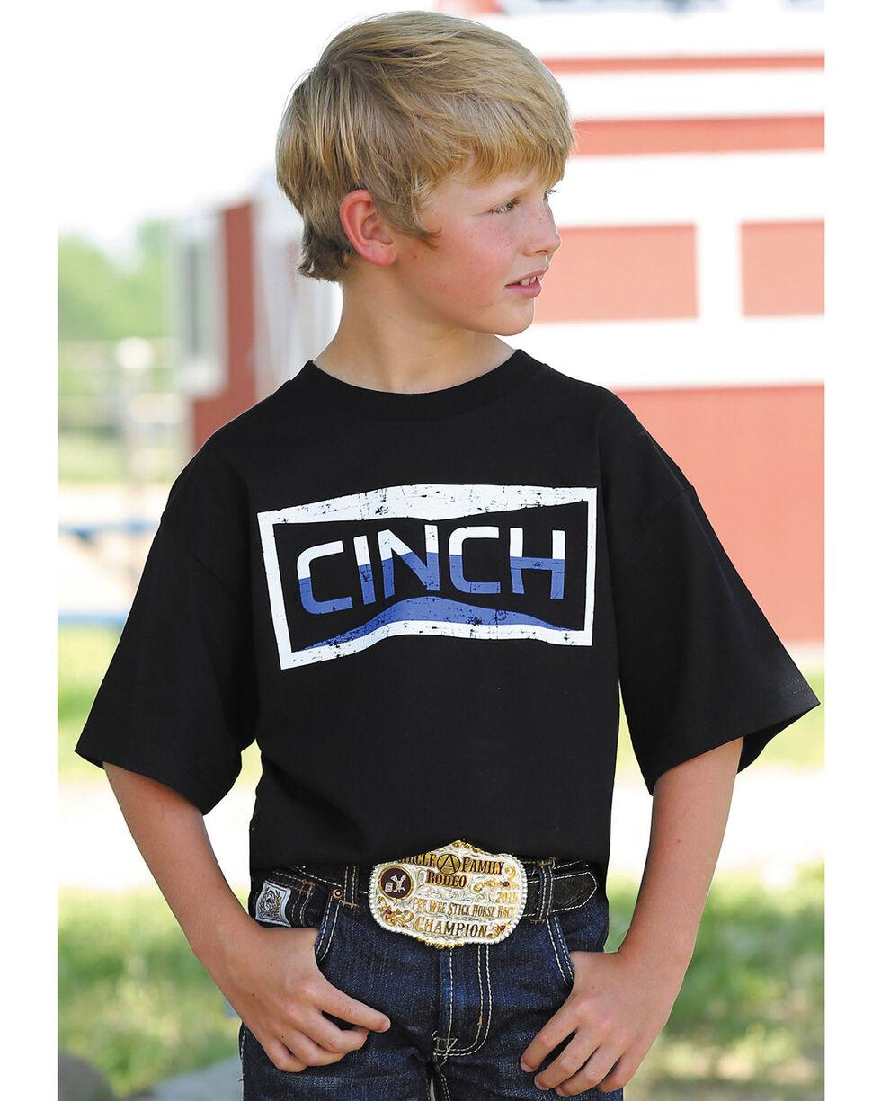 Cinch Boys' Black Two-Tone Graphic Tee , Black, hi-res