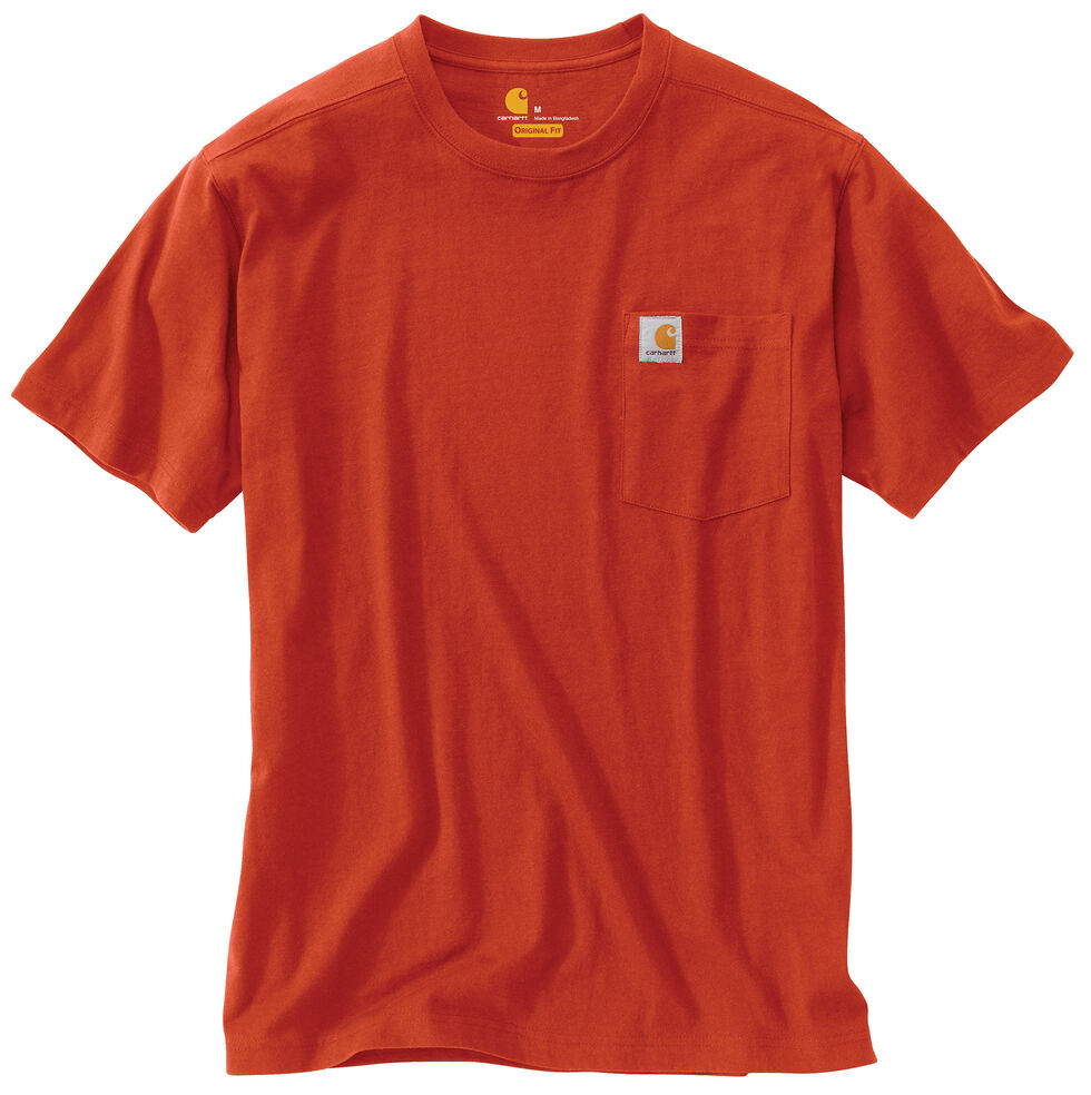 Carhartt Maddock Pocket Short Sleeve Shirt, Red, hi-res