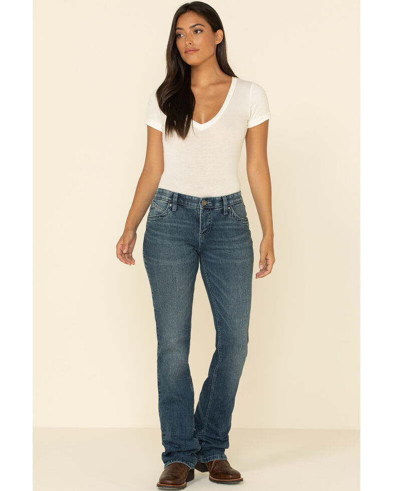 Wrangler Women's Ultimate Riding Aubrey Q-Baby Bootcut Jeans , Blue, hi-res
