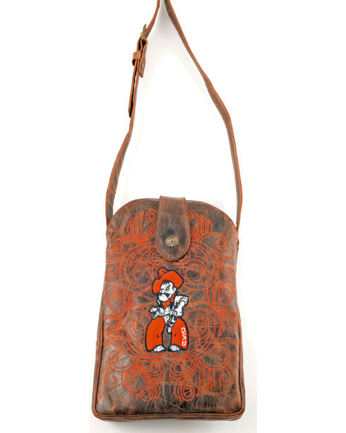 Gameday Boots Oklahoma State University Crossbody Bag, Brass, hi-res